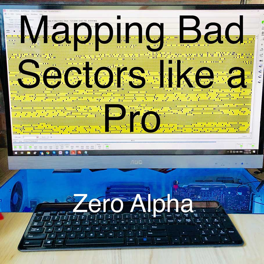 Zero Alpha data recovery mapping the bad sectors on a drive