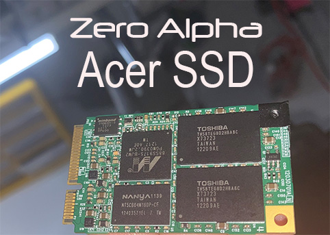 we use a special adapter for a acer aspire ssd msata data recovery