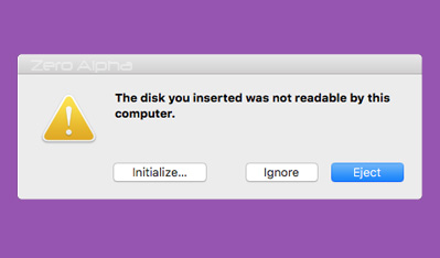 usb flash drive not working on mac os. the disk you inserted was not readable by this computer