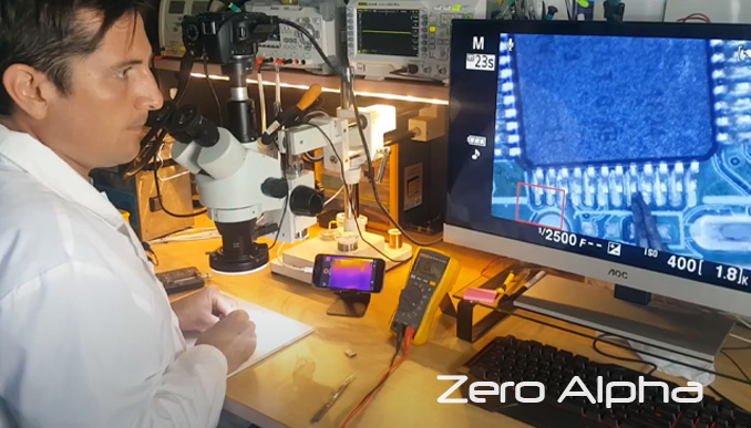 usb data recovery with microscope inspection
